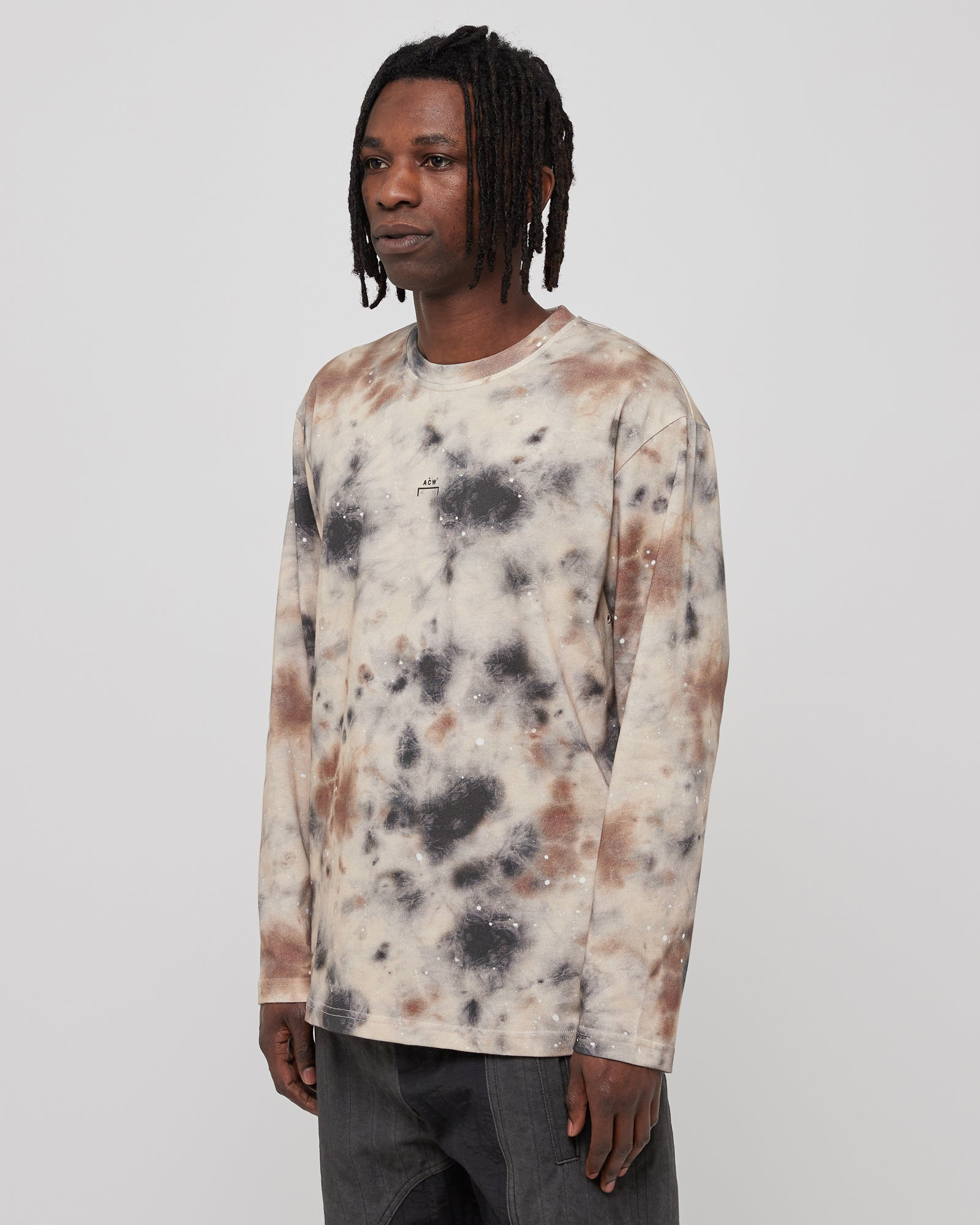 Diesel Red Tag L/S Top Stain T-Shirt in Beige