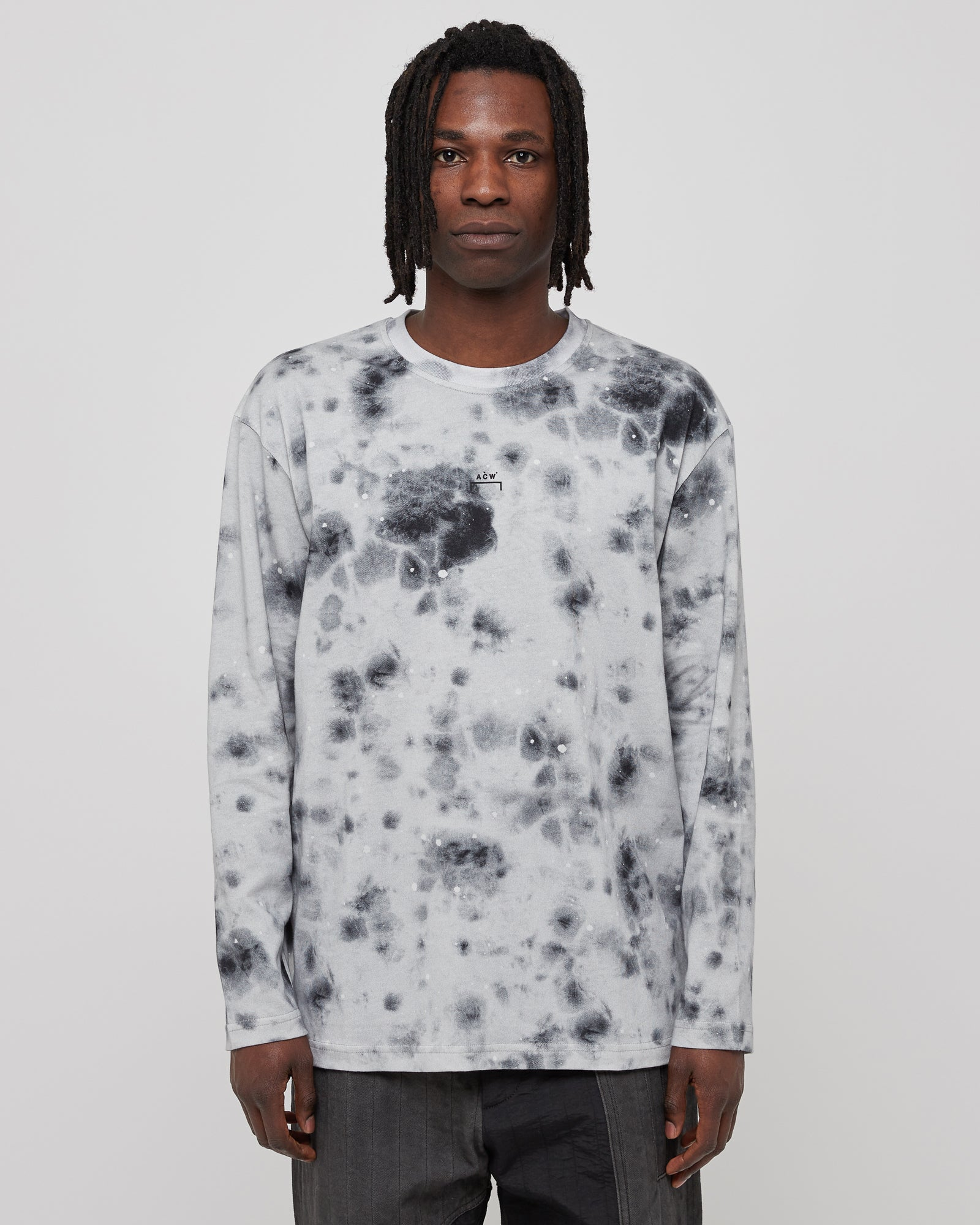 Diesel Red Tag L/S Top Stain T-Shirt in Gray
