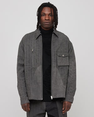 Diesel Red Tag Overdyed Denim Shirt in Gray