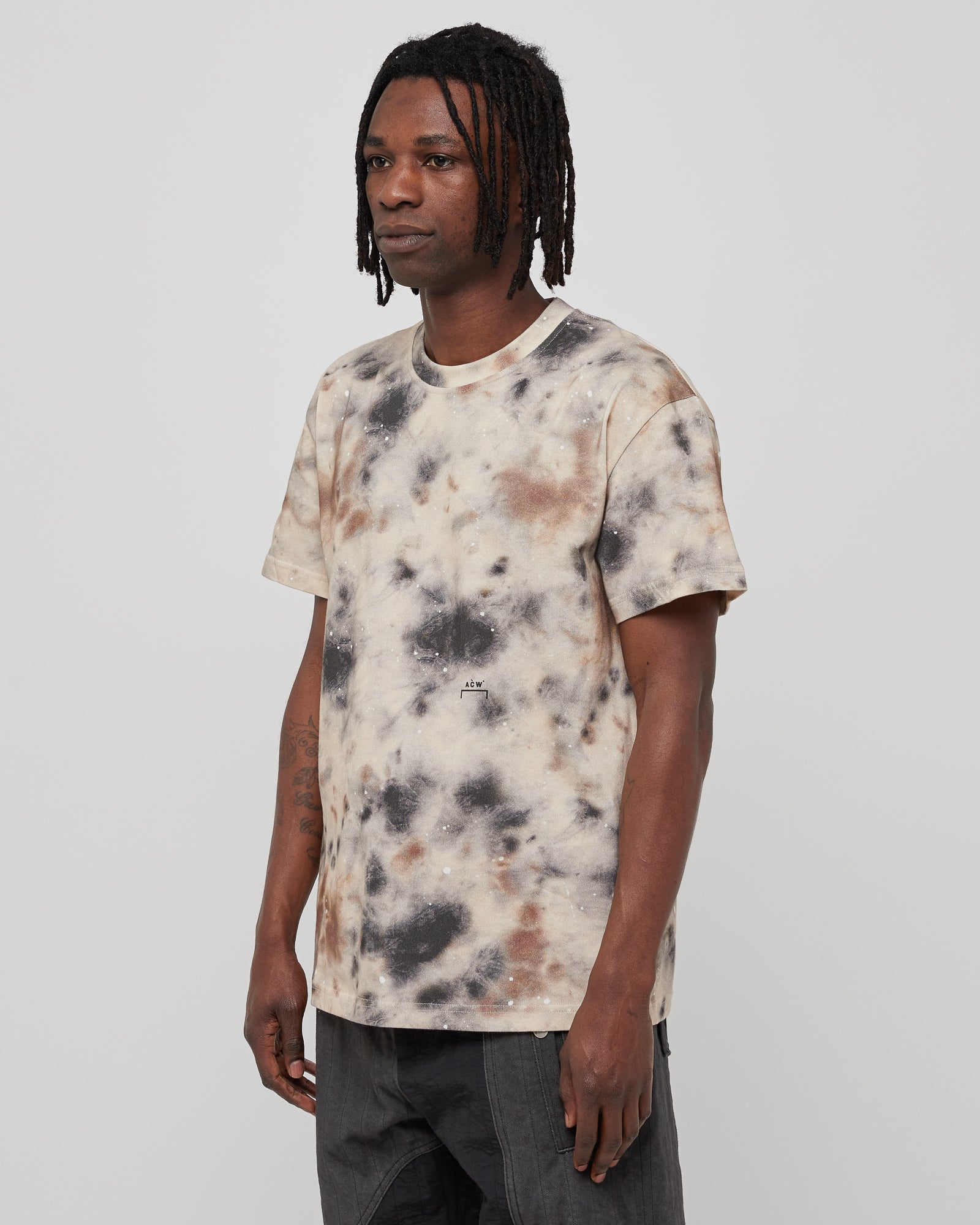 Diesel Red Tag Top Stain T-Shirt in Beige