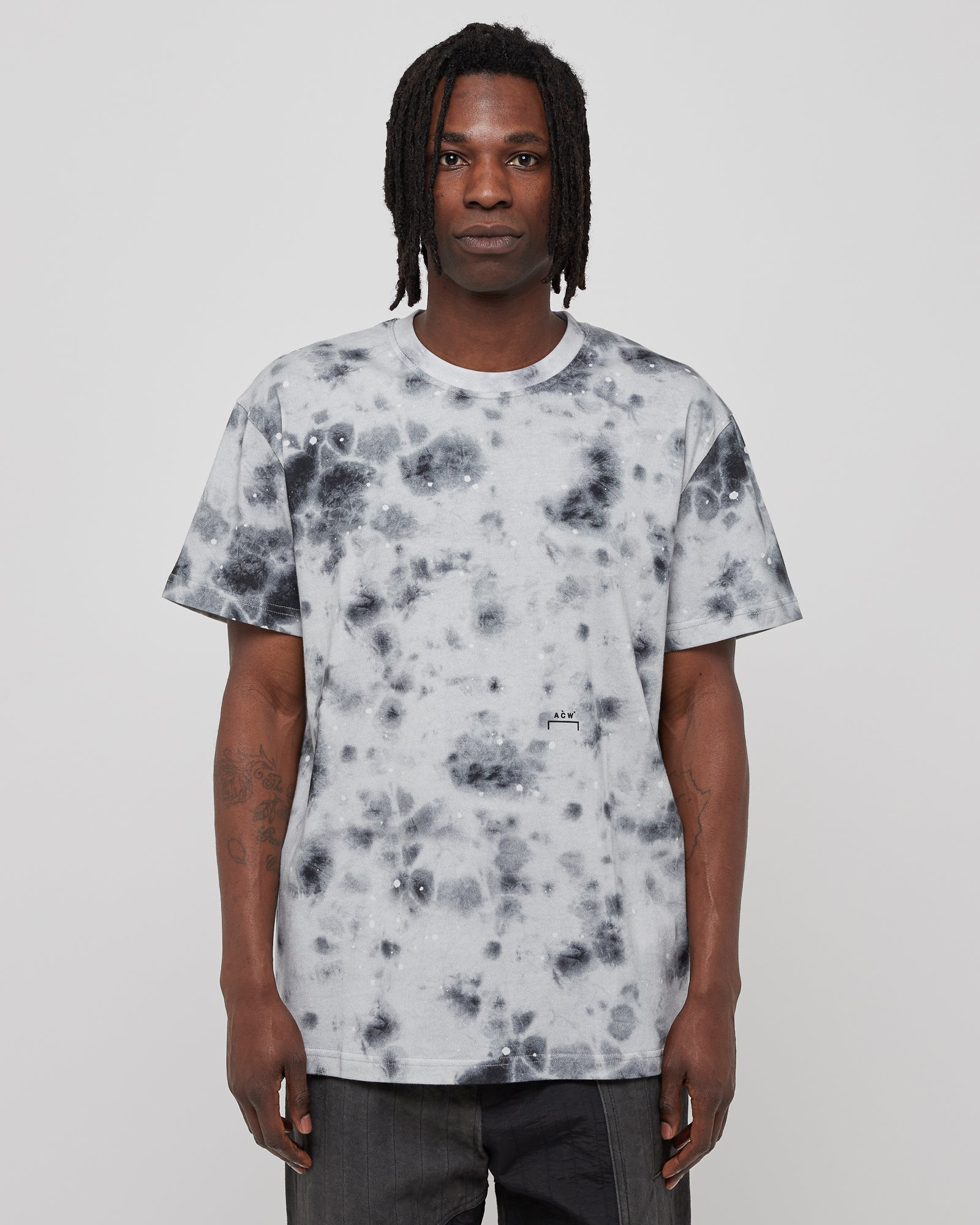 Diesel Red Tag Top Stain T-Shirt in Gray