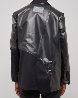 Geometric Overlay Jacket in Black