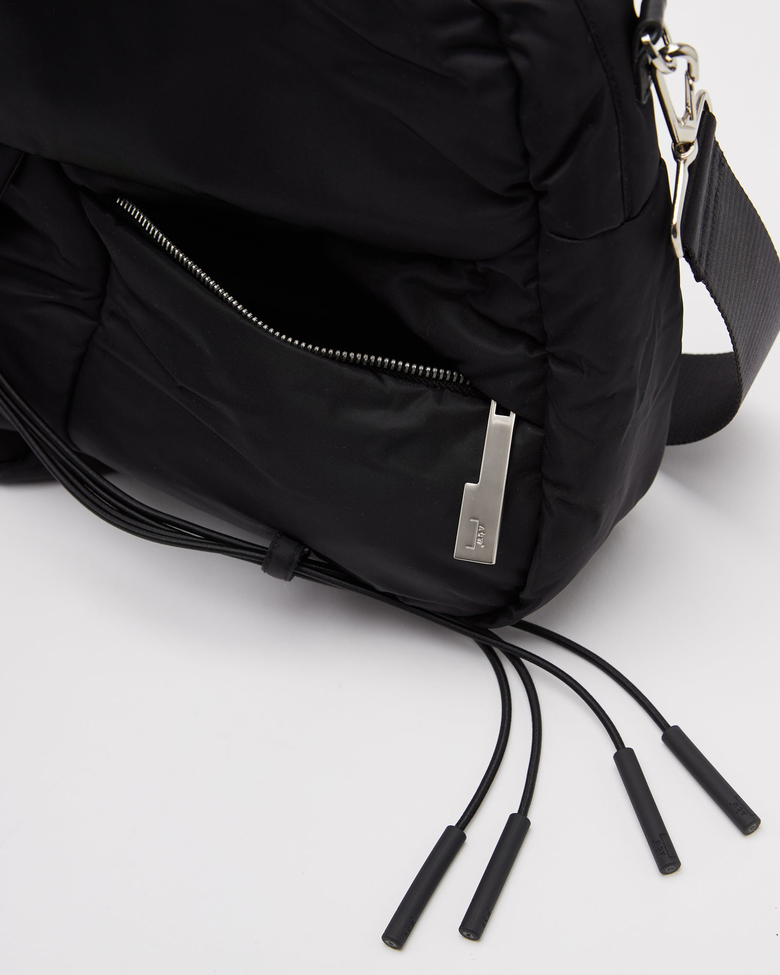 Interlocked Padded Bag in Black