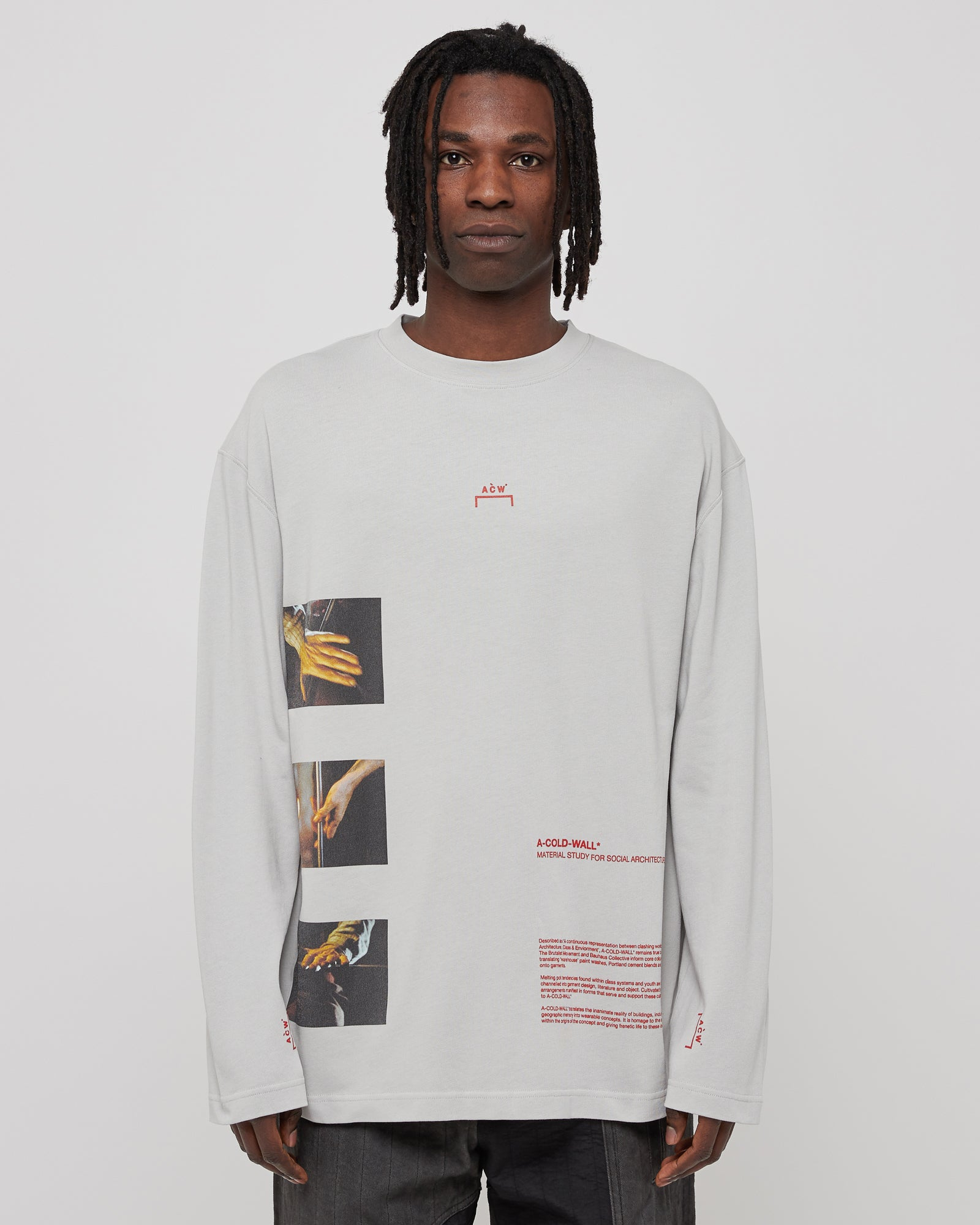 L/S Glass Blower T-Shirt in Light Gray
