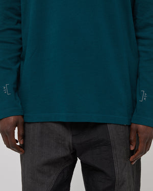 Logo Longsleeve T-Shirt in Deep Teal