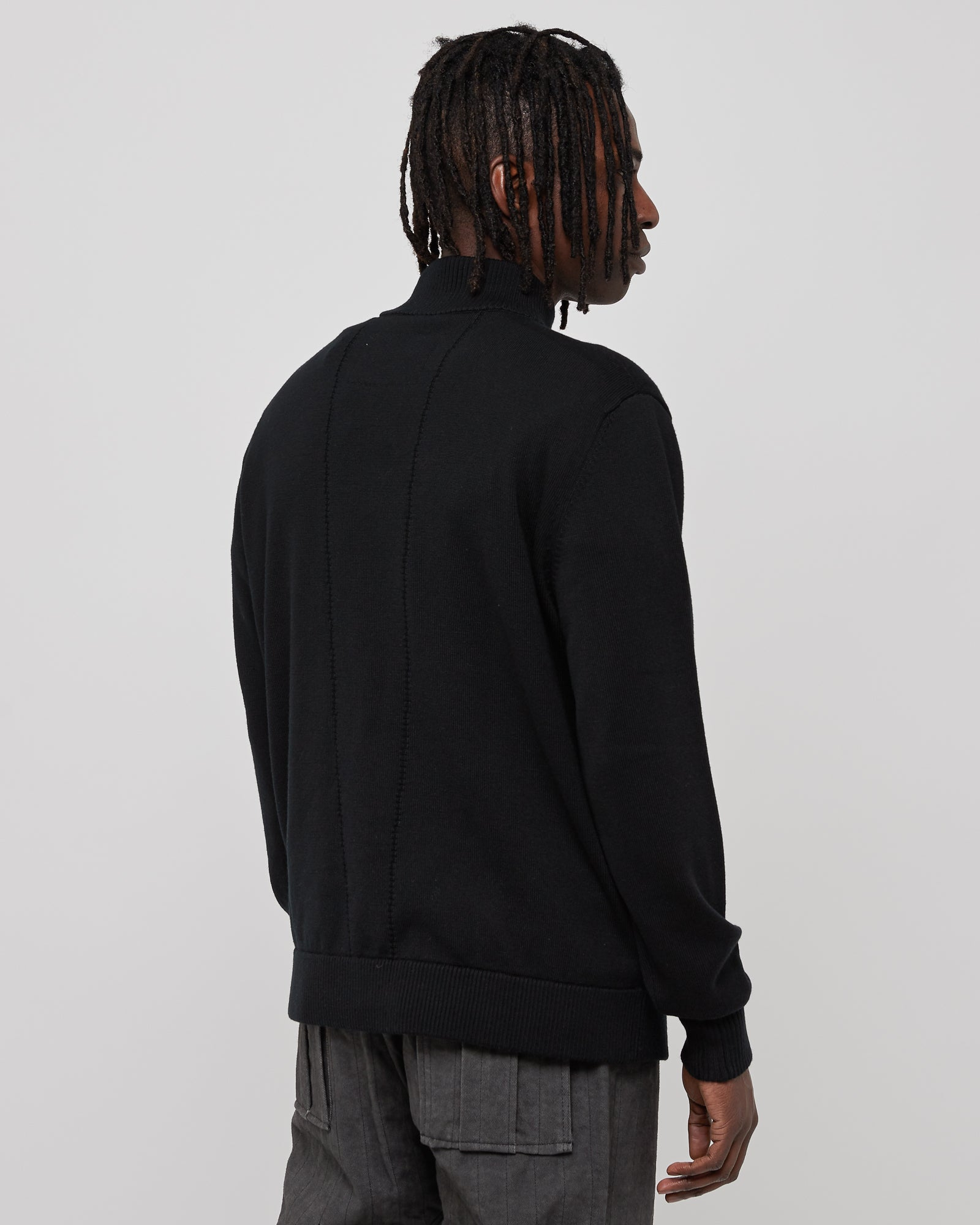 Mock Neck Jumper in Black