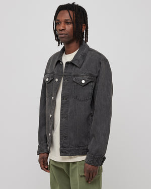 Overdye Trucker Jacket in Black