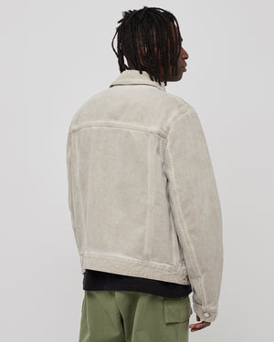 Overdye Trucker Jacket in Moon Beam
