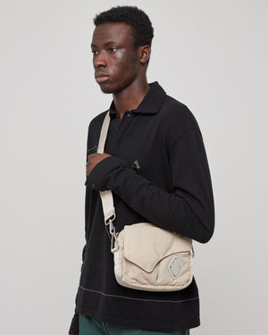 Padded Envelope Cross Body Bag in Moon Beam