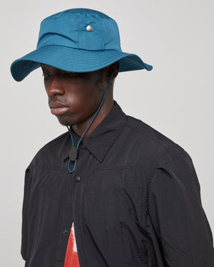 Snap Pocket Bucket Hat in Deep Teal