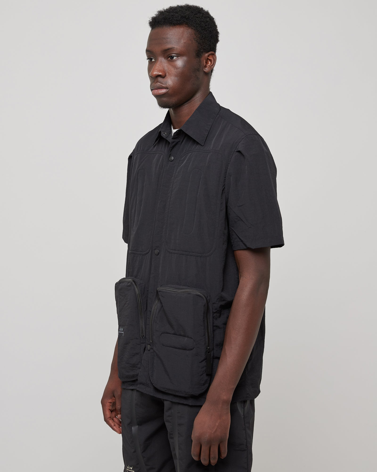 Utility Pocket Shirt in Black