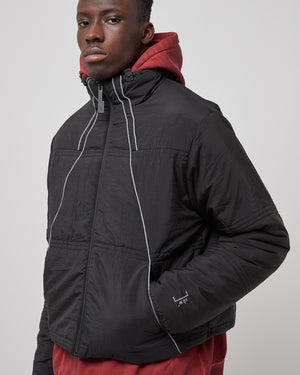Classic Puffer with Piping in Black