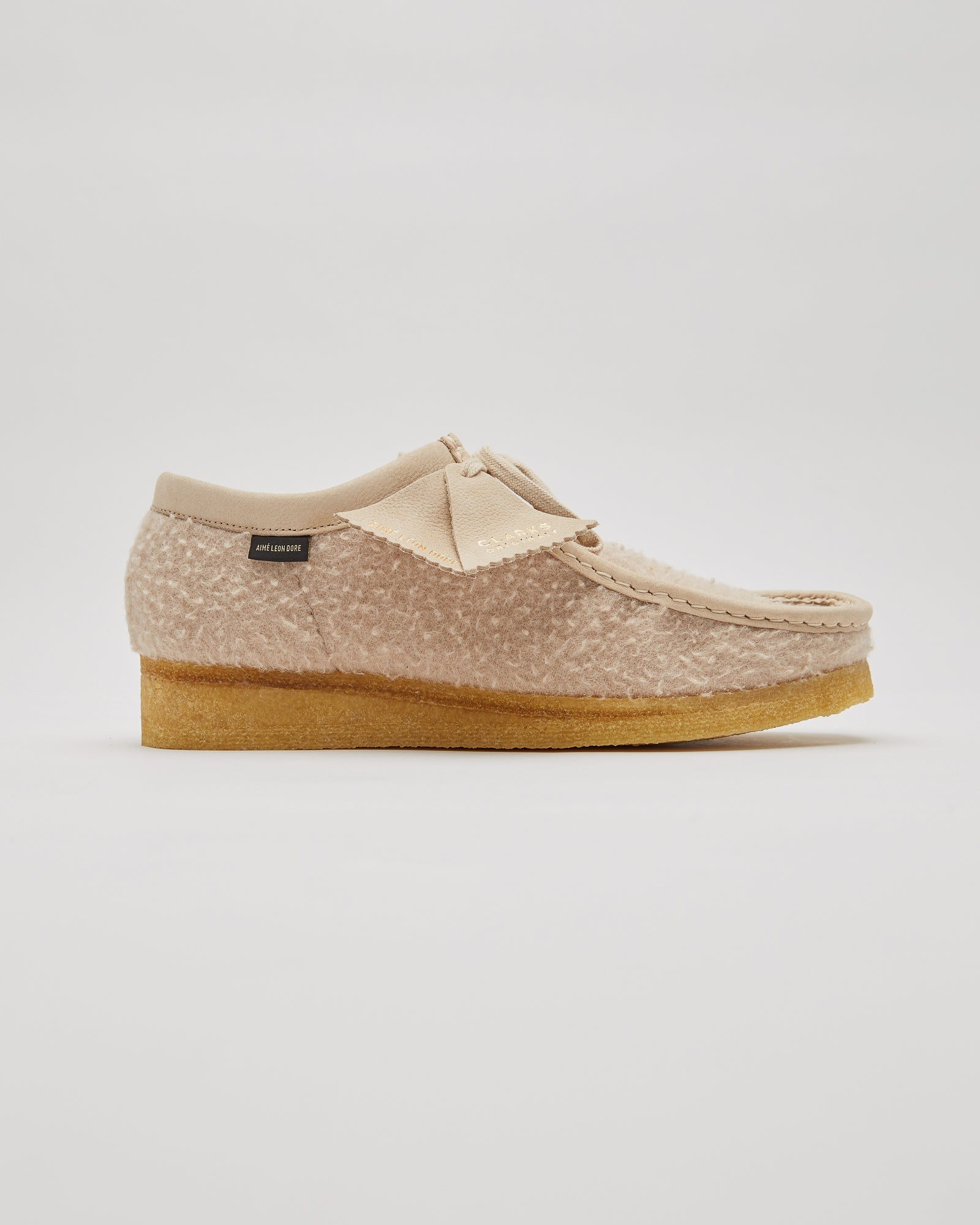 ALD/Clarks Casentino Wool Wallabees in Tan