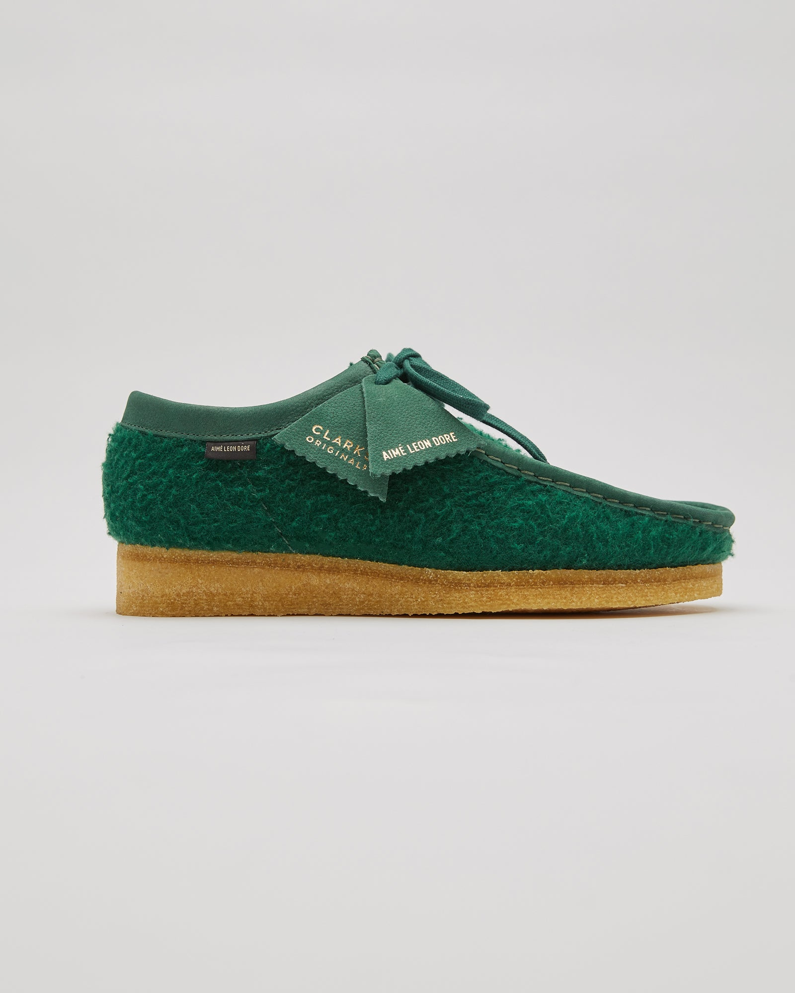 ALD/Clarks Casentino Wool Wallabees in Dark Green