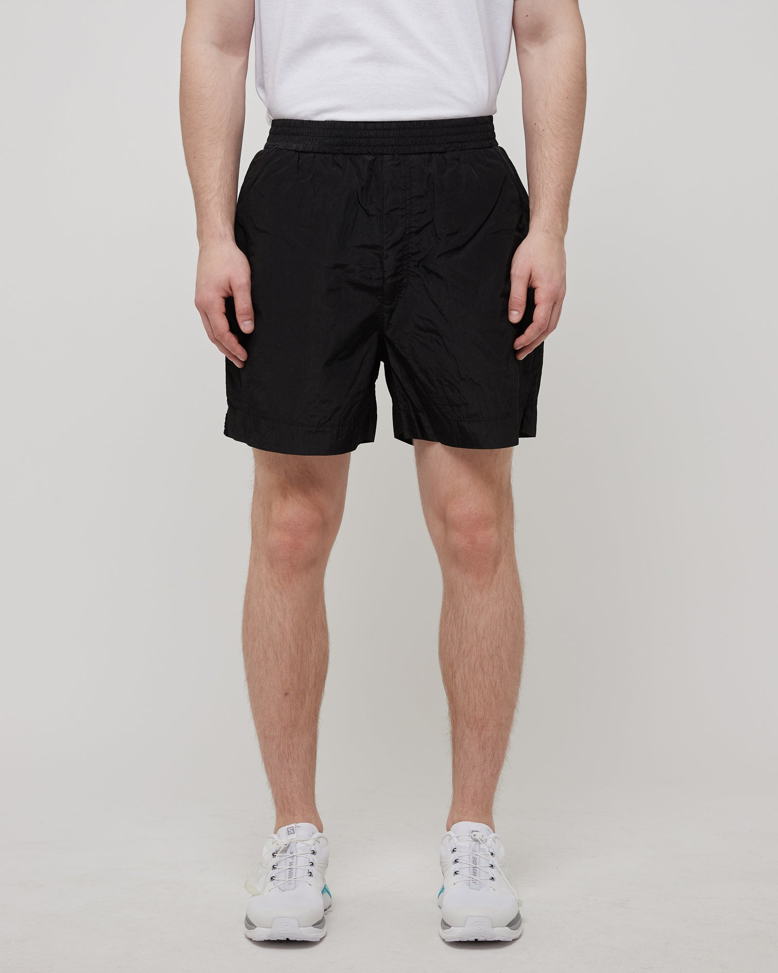 Garment Dyed Swim Trunk in Black