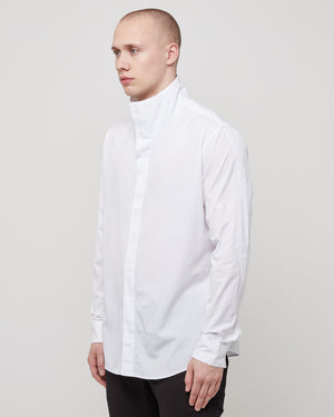 High Collar Shirt in White