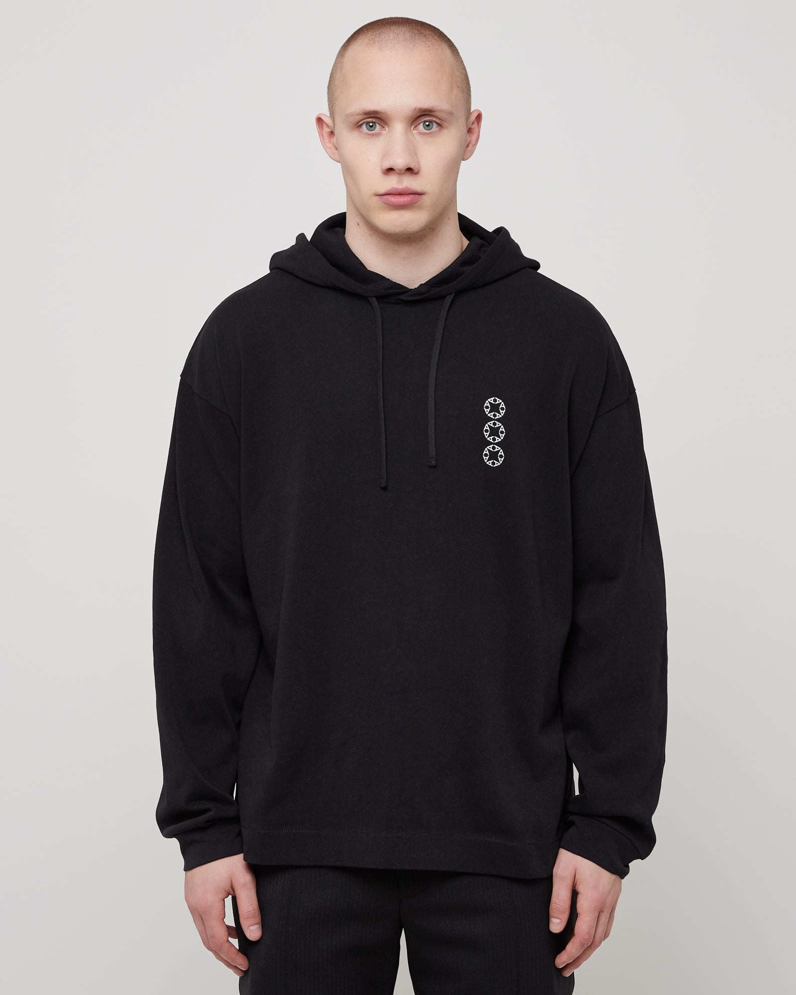 Hooded T-Shirt in Black