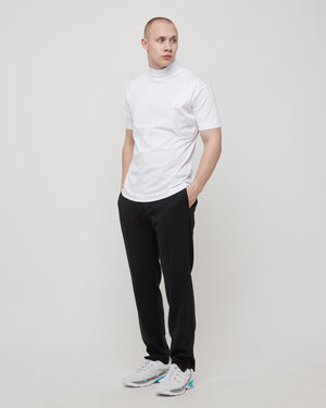 Saturn Zipper T-Shirt in White