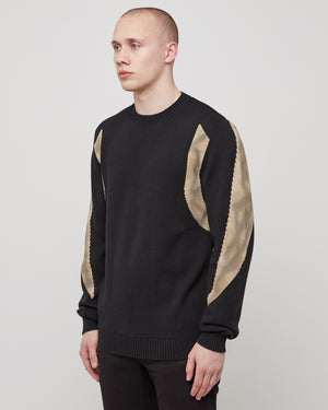Warp Speed Sweater in Black