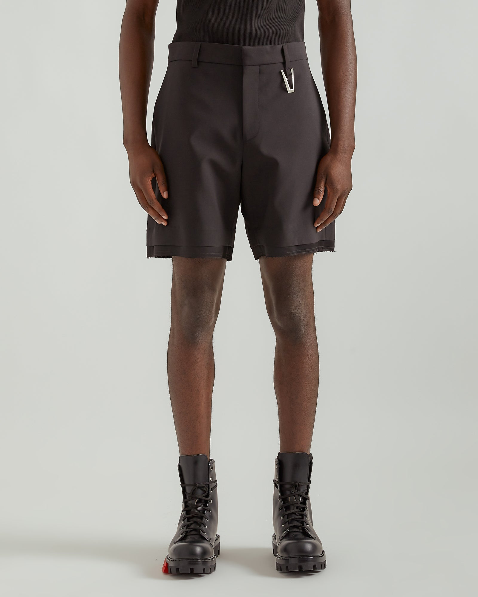 """A"" Tailoring Shorts in Black"
