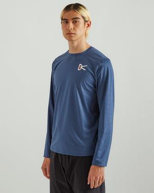 Air-Wear L/S T-Shirt in Blue