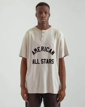 All Star Henley T-Shirt in Vintage White