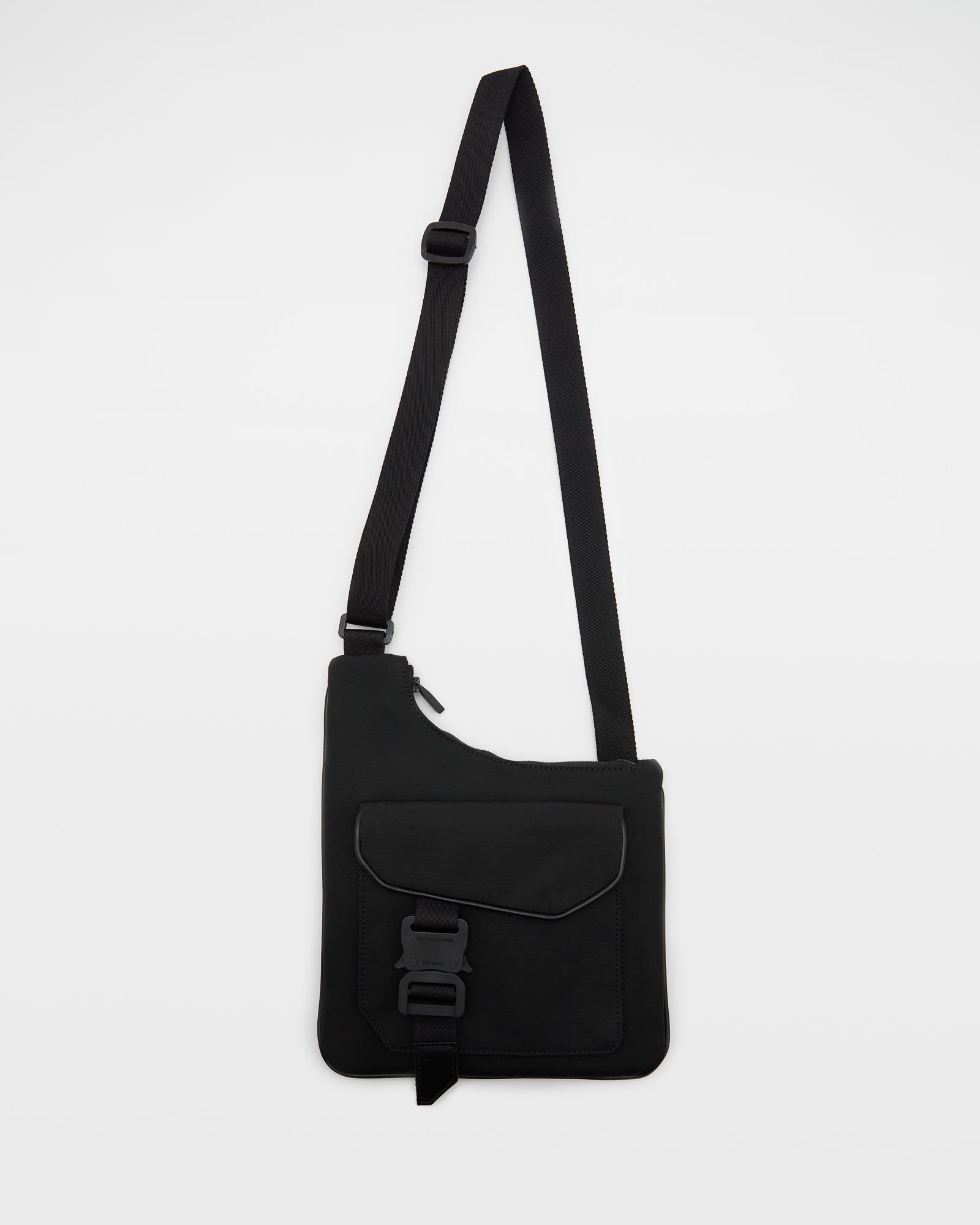 Asymetrical Flat Pouch in Black