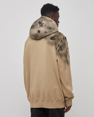Mackintosh Camo Hoodie in Tan