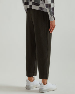 April Cropped Trousers in Dark Gray
