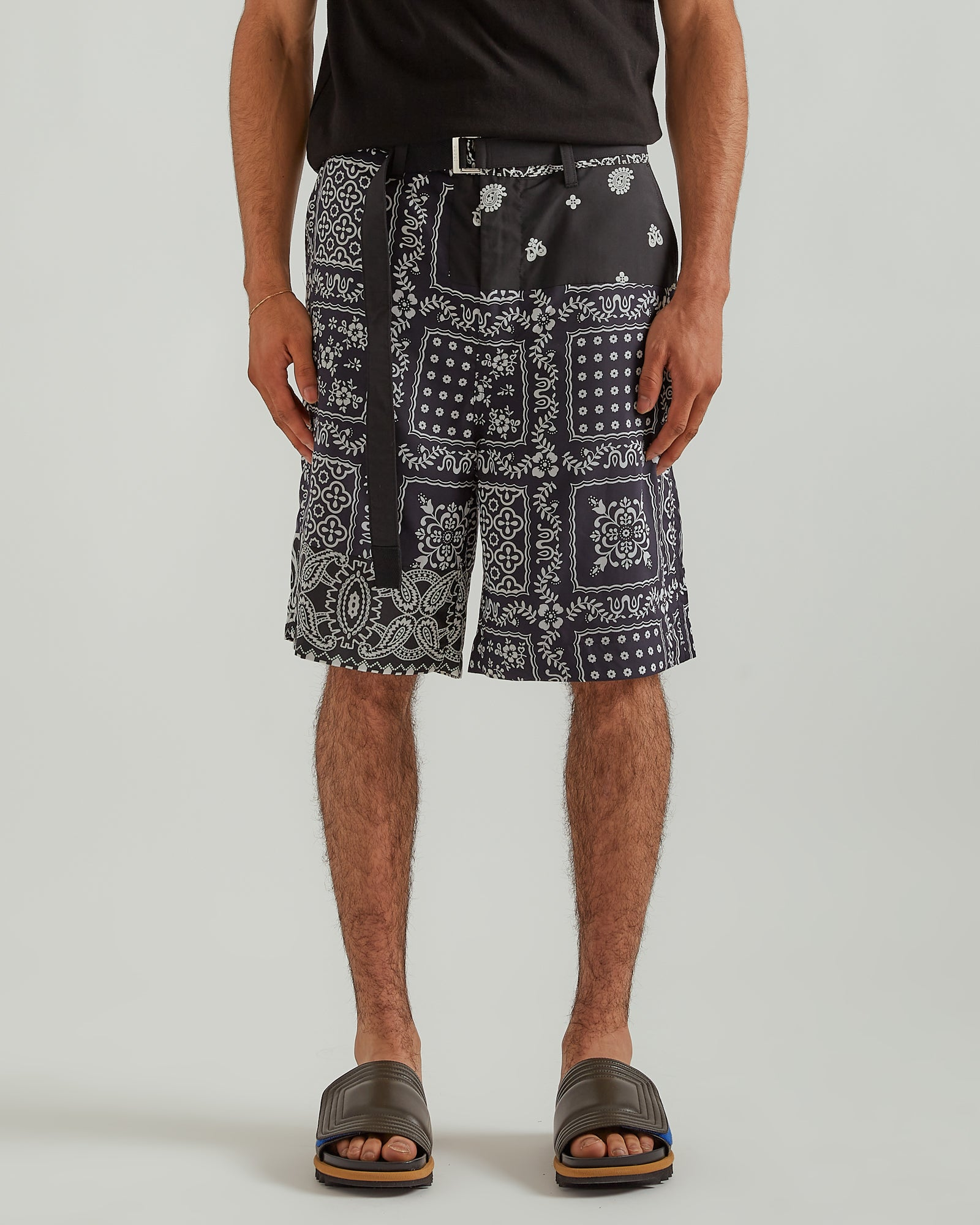Archive Mix Print Shorts in Black/Navy