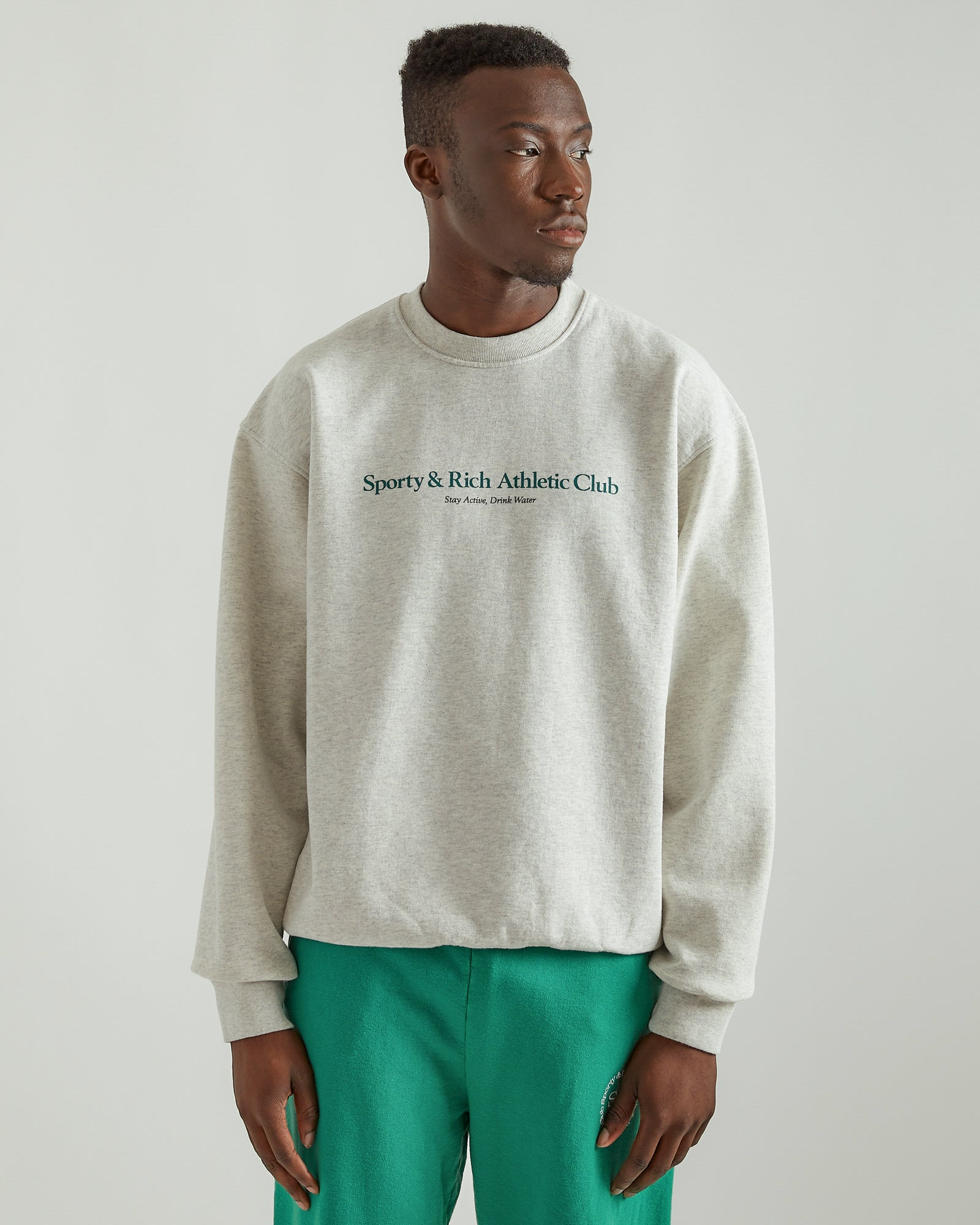 Athletic Club Crewneck in Heather Gray