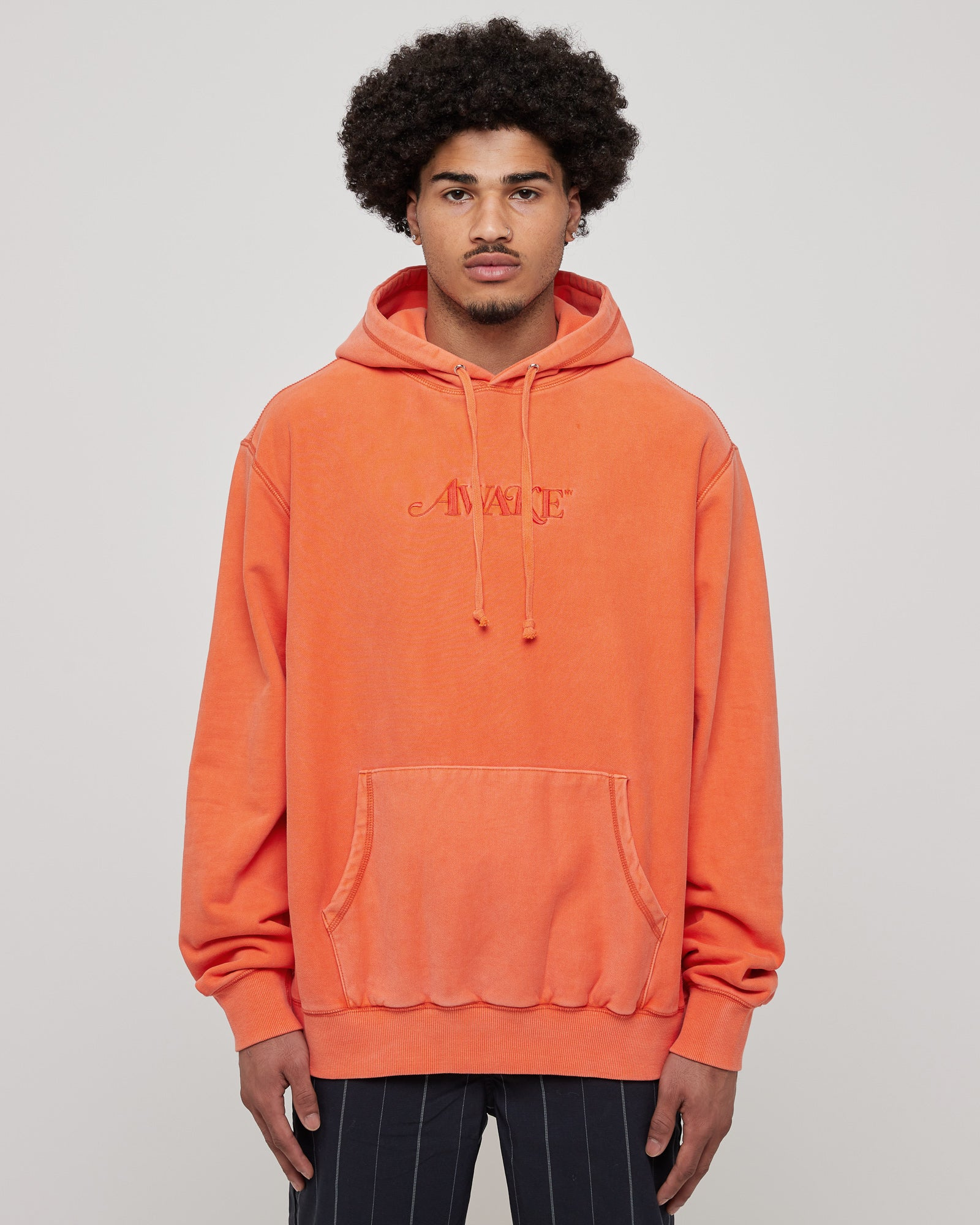 Classic Logo Hoodie in Red Orange