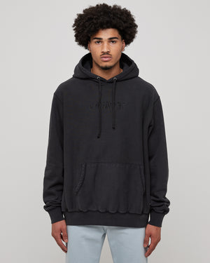 Classic Logo Hoodie in Washed Black