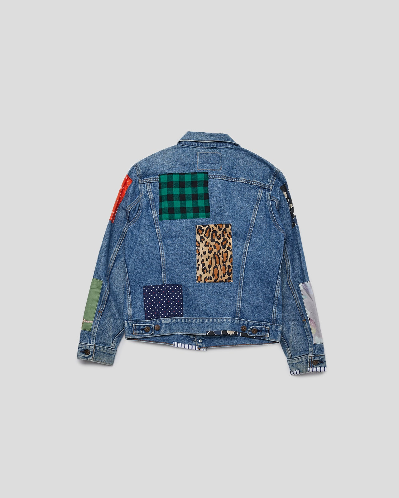 Awake Levi's Trucker Jacket in Denim Patchwork