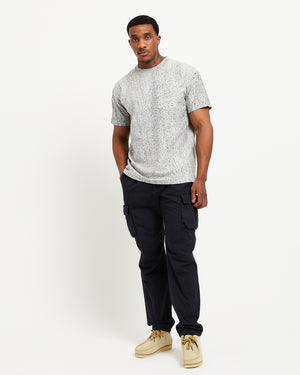 Back Sateen Cargo Pants in Black
