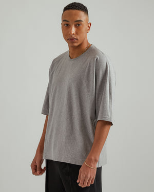 Basic Cotton T-Shirt in Heather Gray