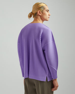 Basics Pleated L/S T-Shirt in Lavender