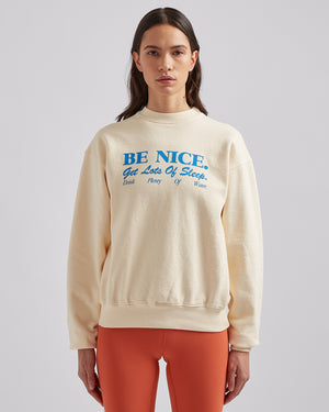 Be Nice Crewneck in Cream