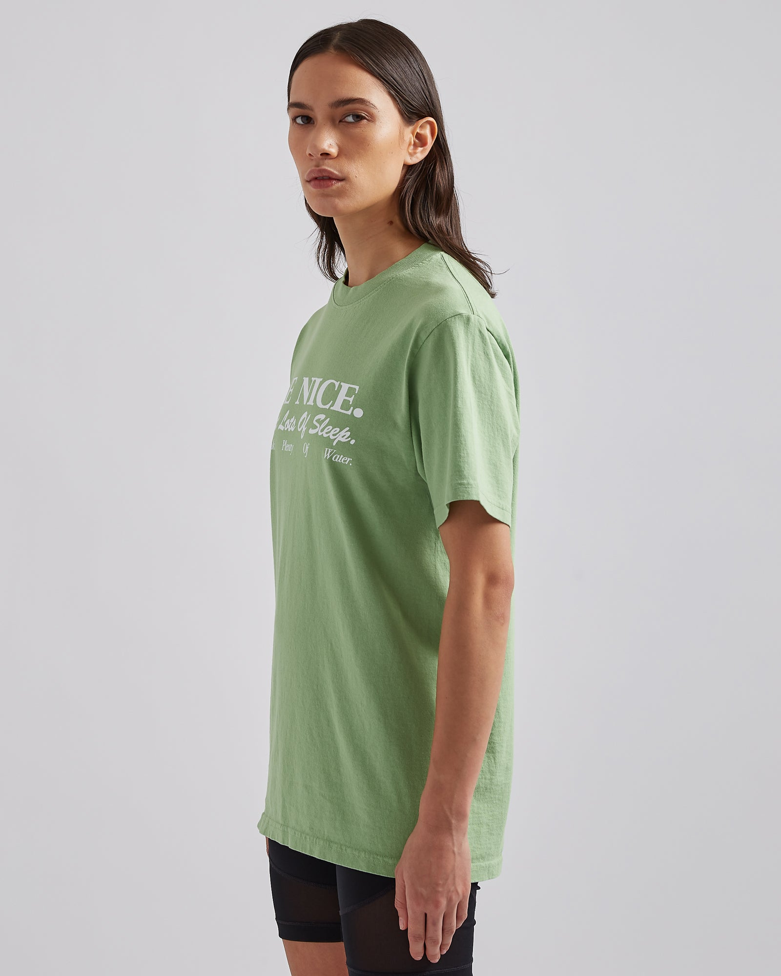 Be Nice T-Shirt in Pistachio