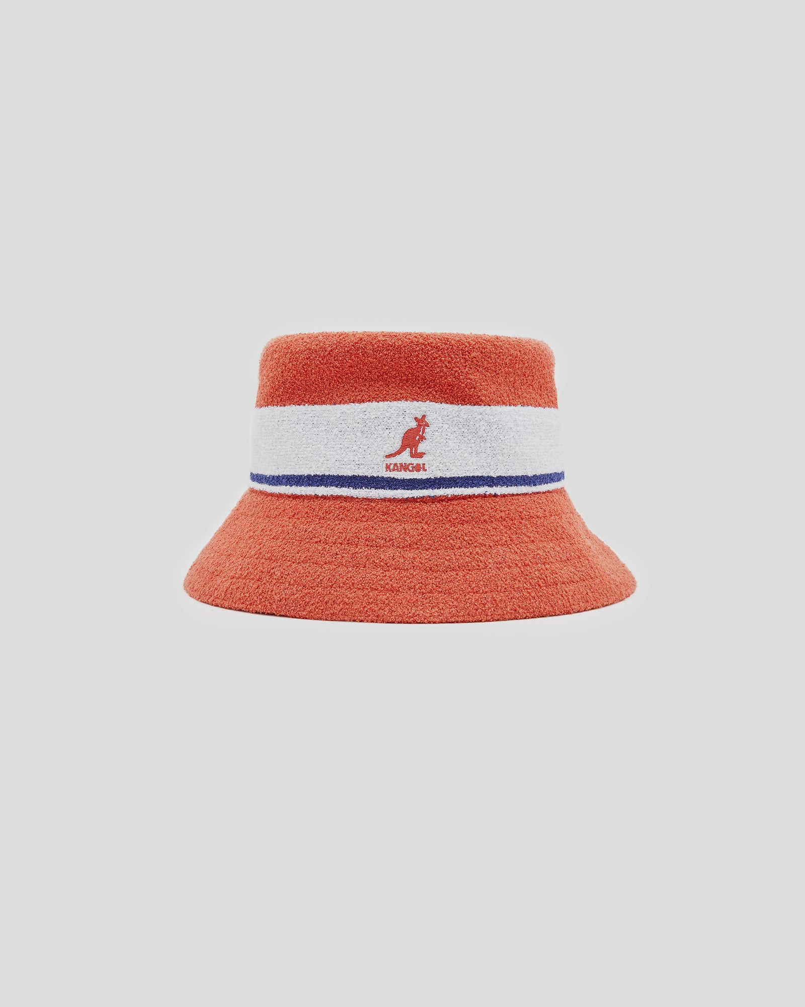 Bermuda Stripe Bucket in Fiery Orange
