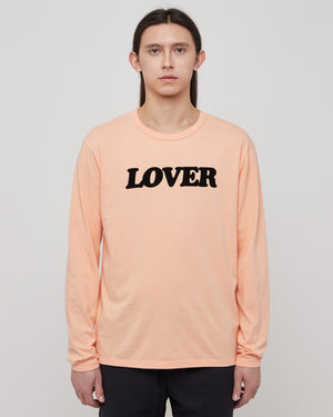 Lover L/S T-Shirt in Peach & Black