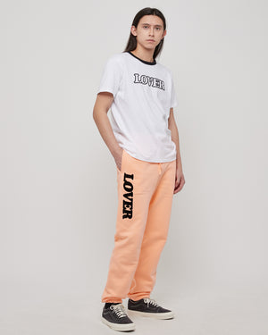 Lover Sweatpants in Peach & Black