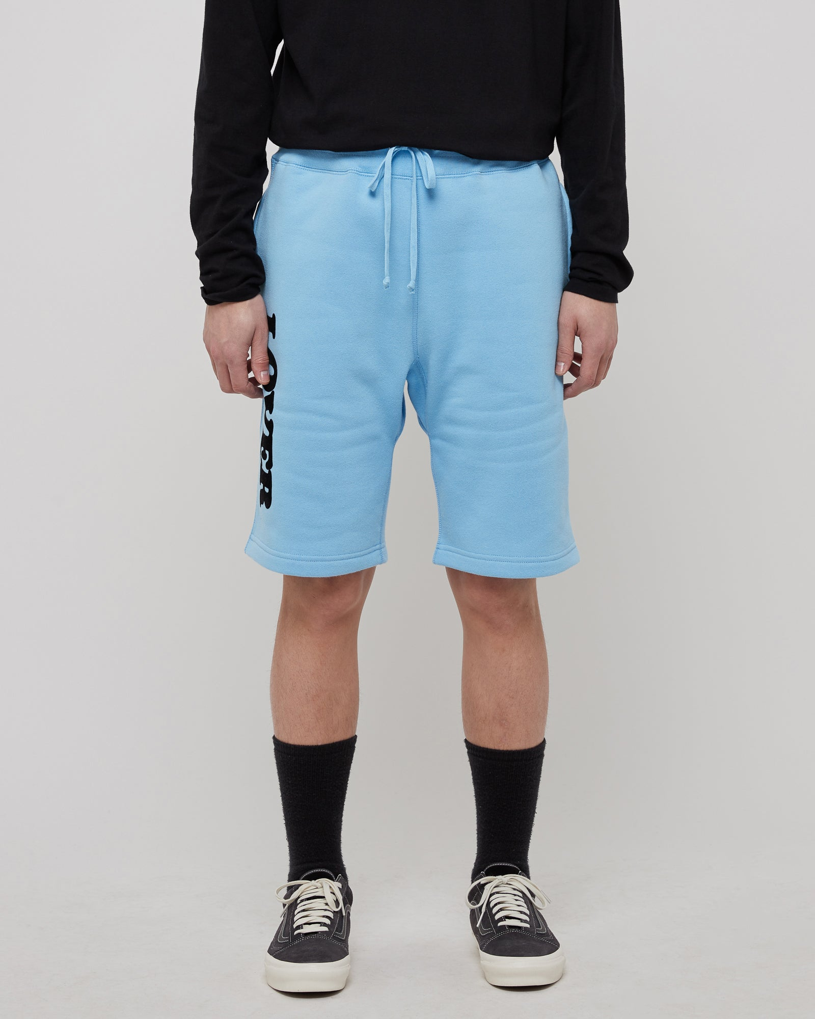 Lover Sweatshorts in Baby Blue & Black