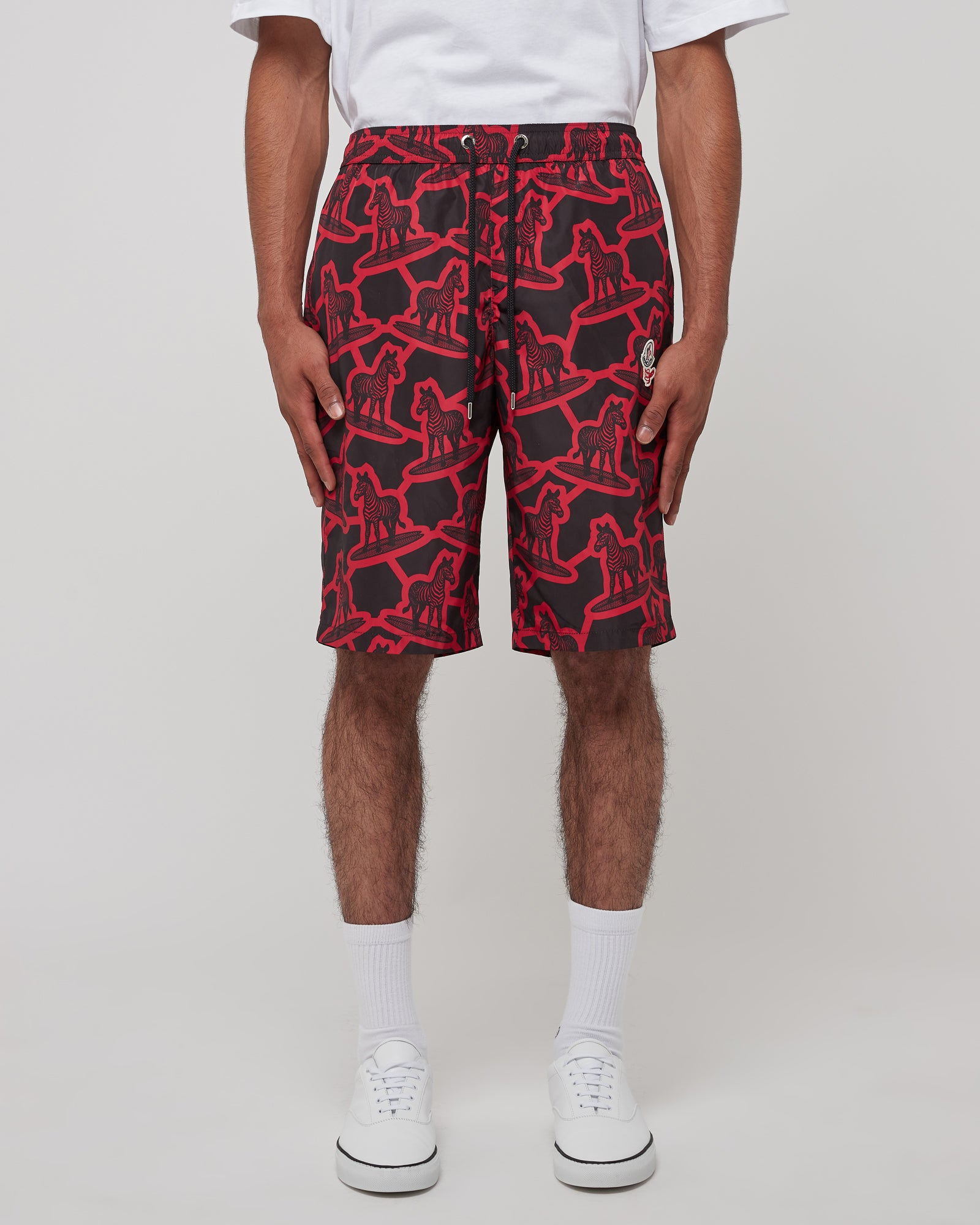 Boxer Mare Shorts in Red & Black