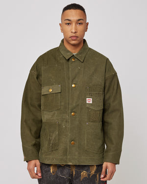 Burn Coat in Green