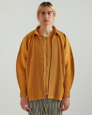Button Up Shirt in Light Orange