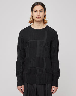 Multi Knit Sweater in Black