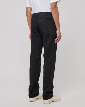Tapered Wool Pants in Black