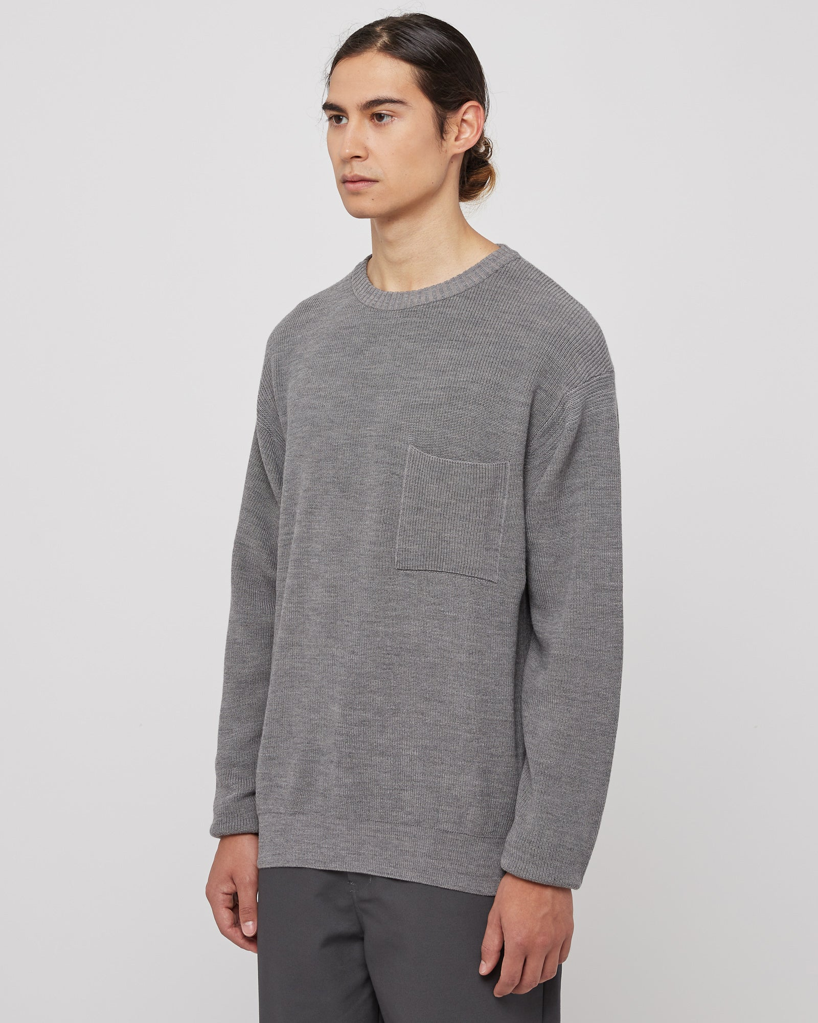 C/W Pocket Knit in Gray