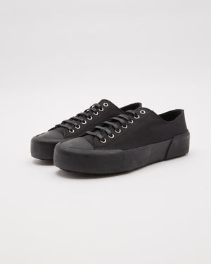 Canvas Lace Sneaker in Black